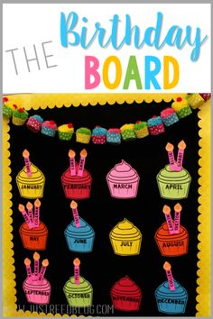 Learn how to create this beautiful display for your classroom and grab a free template! board The Best Birthday Board - Just Reed & Play