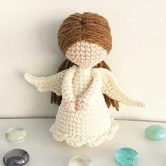 Amigurumi Melek Tarifi Angel Crochet Pattern Free, Crochet Angels, Crochet Amigurumi Free Patterns, Christmas Crochet Patterns, Christmas Knitting, Crochet Gifts, Crochet Toys, Crochet Stitches For Beginners, Baby Gift Box