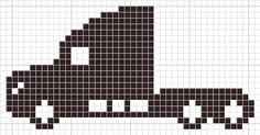 Cro Knit Inspired Creations By Transport Truck Charts Knitting Charts, Knitting Patterns, Crochet Patterns, Crochet Car, Filet Crochet, Beaded Cross Stitch, Cross Stitch Patterns, Canvas Patterns, Quilt Patterns