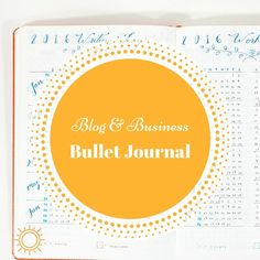 Today I'm excited to share with you my Blog & Business Bullet Journal for  2016!