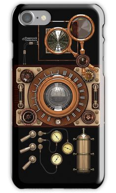 """""""Vintage Steampunk Camera #2A Steampunk phone cases"""" iPhone Cases & Skins by Steve Crompton   Redbubble"""