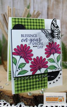 "I Used the New ""Sending Love"" Stamp Tv Kit and the New Butterfly Die From Gina K. Designs. colored with Spectrum Noir Markers!  Available @ http://www.shop.ginakdesigns.com Made For: Gina K. Designs By: Karen Hightower"