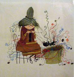 """...Dibujo expuesto en el Museo Municipal de Helmond, Holanda, en Septiembre 2014. Ilustración original de la Sra. Wolmand Averechts en la Revista """"Eva"""" en 1965"""