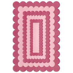Lifestyle Crafts - Quickutz - Cookie Cutter Dies - Nesting Scallop Rectangles at Scrapbook.com
