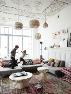 modern playroom with bohemian details.