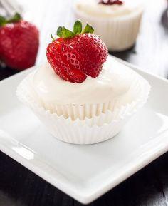stunning strawberry cupcakes