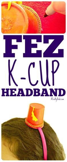 The fez is a headdress, usually made of felt, that is worn in formal and informal occasions in the Mediterranean area of the world. Learning Arabic, Fun Learning, K Cup Crafts, Ways To Recycle, Reuse, Crafts For Kids To Make, Kids Crafts, Homemade Necklaces, Ramadan Crafts