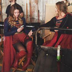 Tonight, Ali Adler shared 14 new behind the scenes images before the premiere, more here: http://www.supergirl.tv/ali-adler-s-backstage-gallery