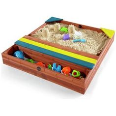 Buy Plum Store It Outdoor Play Wooden Sand Pit At Argos.co.uk
