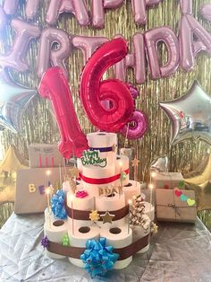 Happy 16th Birthday, Birthday Cake, Sweet 16, Desserts, Birthday Cakes, Sweet Sixteen, Deserts, Dessert, Postres