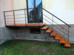 escalier + passerelle pour acces jardin