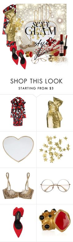 """""""Holiday Party Makeup"""" by ella110 ❤ liked on Polyvore featuring beauty, Marco de Vincenzo, Yves Saint Laurent, Gucci, H&M, Agent Provocateur, Vionnet and goglam"""