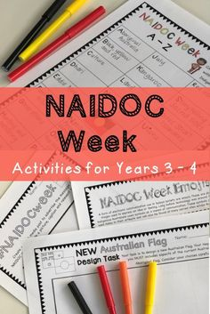 This pack of NAIDOC Week activities for kids will keep them engaged while learning. Teaching resources and lesson ideas are meaningful and suitable for students in Year 3 School Resources, Teaching Resources, Educational Activities, Activities For Kids, Naidoc Week Activities, Aboriginal Art For Kids, Flags With Names, Celebration Around The World, History Education