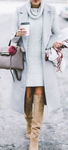 #fall #outfits / all gray