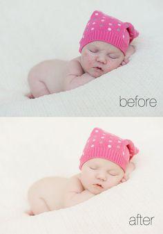 How to edit tough newborn skin. Great video tutorial!