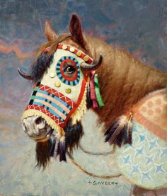 The American Indian 'horse mask' was used on the Southern and Northern Plains by virtually all the horse culture tribes in the West. A remnant of the Spanish use of horse armor, it was associated with warrior military societies along with personal war med Native American Costumes, Native American Horses, Native American Regalia, Native American Pictures, Indian Pictures, Horse Mask, Horse Armor, Horse Costumes, Teen Costumes