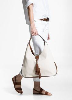 Tassel hobo bag