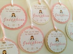 Baptism Favors Tags Baptism Favors Christening by ThePinkPapermill