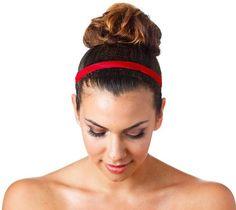 Skinny Non Slip Headband For Women With Adjustable Strap | Etsy Headbands For Short Hair, Cute Headbands, Headbands For Women, Wide Headband, Hair Photo, Grosgrain, Different Colors, Snug, Short Hair Styles