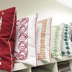 Pillow, pillow against the wall...Who's the fairest of them all? #PerennialsFabrics #DesignerPillows #PillowFight