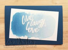 Layering Love Watercolour Card in Dapper Denim - Part of the In Color 2016-2018 Club Design Series Stampin' Up! Demonstrator Lea Denton -Layering Love Watercolour Card in Dapper Denim - Part of the In Color 2016-2018 Club Design Series Another Dapper Denim card from the In Color Club for you today this time done on watercolour paper with some embossing to bring out the Layered Love Stamp Set words.  All of the products mentioned in this Crafty Spark post can be purchased from me by clicking…