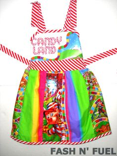 Candyland Girls Dress Made to Order by FASHnFUEL on Etsy, $55.00