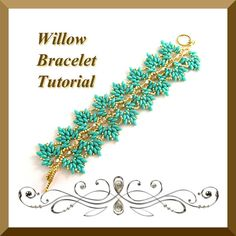 Pdf Tutorial Willow Bracelet with Super Duo Beads, Beading Pattern