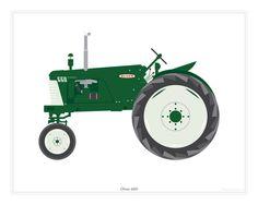 Oliver 660 Tractor Art Print