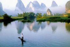 El hermoso río Guilin Li