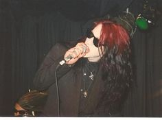 Rozz Williams performing in Shadow Project at the Bank-Dreams for the Dying Tour NYC (Photo. Gothic Metal, Gothic Rock, Pastel Grunge, Grunge Hair, Goth Bands, Rain Fashion, Goth Music, Estilo Rock, Goth Beauty