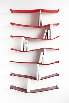 Designer Luke Hart created these wonderful rubber bookshelves for The Sculpture House, a limited edition furniture exhibition at See Studio in London. Etagere Design, Modern Bookcase, Little Presents, Industrial Design, Furniture Design, House Furniture, Sweet Home, Objects, Design Inspiration