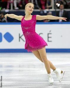 GPF2012 Sochi RUSSIA, Korpi, Pink Figure Skating / Ice Skating dress inspiration for Sk8 Gr8 Designs.
