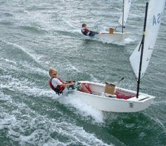 opti - what Kai is learning to sail great math, hand/eye coordination