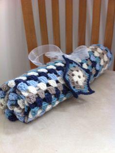 Cashmerino crochet baby blanket