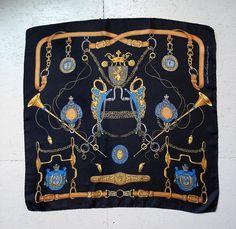 GUY LA ROCHE Vintage Silk Scarf  Silk Scarf by dearhuntervintage