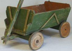 Vintage Wooden Child's Goat Cart Toy Wagon German 1920 Dogcart | eBay