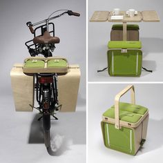 Springtime Picnic Basket.  Gifts for Bicycle lovers.