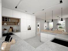 Řešení vysokého rohu v kuchyni - jedna z možností Kitchen Dinning Room, Kitchen Room Design, Kitchen Cabinet Design, Apartment Kitchen, Modern Kitchen Design, Kitchen Living, Kitchen Interior, New Kitchen, White Wood Kitchens