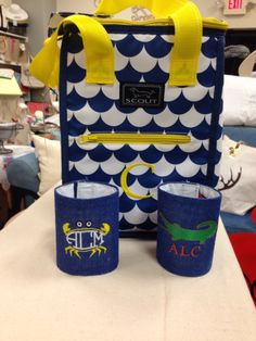 Monogrammed drink wraps and a Scout cooler by Doodlz Designz!
