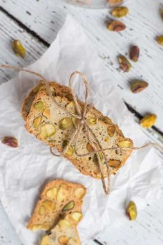 Pistachio, Lemon & Rosemary Biscotti make the ideal last minute gift. Keep a loaf of dough in the freezer for emergencies, & never be without a gift again. Christmas Goodies, Christmas Recipes, Biscotti Recipe, Kitchen Witch, Food N, Last Minute Gifts, Holiday Treats, Pistachio, Yummy Cakes
