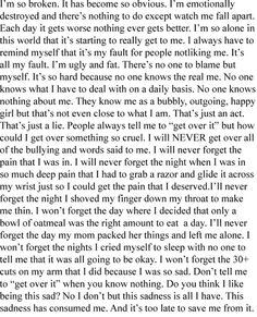 Self-Harm+Cutting+Quotes | self harm quotes | Tumblr | We Heart It