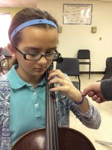 No more bent wrists-left hand posture activities for cello, violin, viola students!