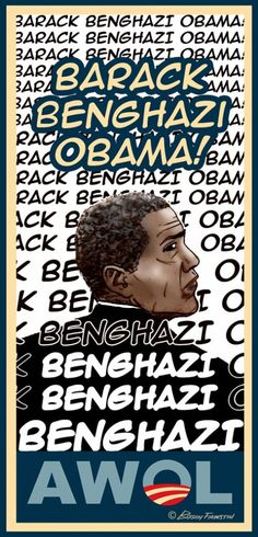 """BarackBenghaziObama:  """"We can't let him get away with it.         We need to make Benghazi stick to him in a way that his media can't control. I think one way to keep the issue of his dereliction of duty alive is to make Benghazi his middle name. Each of us can help start the ball rolling by simply tweeting #BarackBenghaziObama whenever we tweet about him. From now on, when I write out his full name, I'll be using """"Barack Benghazi Obama."""" Consider using it yourselves"""""""