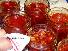 With the month of May comes the strawberries and rhubarb here in Hickery Holler. This is actually the second picking of rhubarb. Rhubarb Recipes, Jam Recipes, Canning Recipes, Appetizer Recipes, Great Recipes, Favorite Recipes, Canning Jars, Strawberry Rhubarb Jam, Jam And Jelly