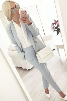 57 Stylish Spring Work Outfits To A Career-Girl Look - Work Outfits Women Stylish Work Outfits, Spring Work Outfits, Business Casual Outfits, Professional Outfits, Work Casual, Stylish Clothes, Outfits For Work, Fashionable Outfits, Business Professional
