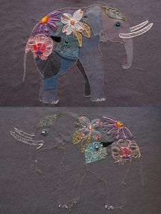 love this woman's artwork (she does a lot of watercolor work) and this is such a beautiful embroidered t-shirt!