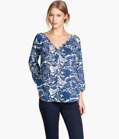 H&M Patterned Cotton Blouse $24.95