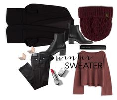 Cozy up by lynksmichelle on Polyvore featuring polyvore, moda, style, Chicwish, BRAX, Christian Louboutin, FOSSIL, Dr. Martens, Burberry, Marc Jacobs, fashion, clothing, contestentry and wintersweater