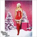New ladies Sexy Leg Avenue Christmas Velvet Holiday Fancy Dress costume Small
