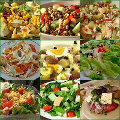 Various salads ! - Greek recipes for delicious, healthy and economical food. Greek Recipes, Light Recipes, Italian Recipes, Lunch Recipes, Salad Recipes, Cooking Recipes, Food Network Recipes, Food Processor Recipes, Italian Chicken Dishes